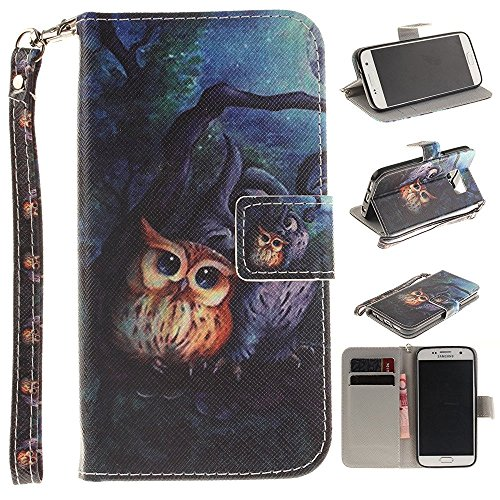 Galaxy S7 Case Samsung Galaxy S7 Flip Wallet Case,Bat King Night Owl[Kickstand] (King Pedestal)