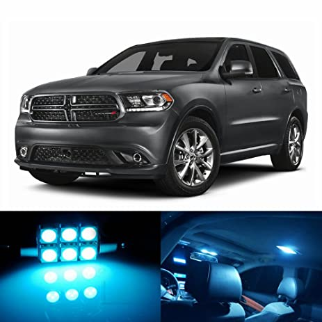 18pcs LED Premium ICE Blue Light Interior Package Deal For Dodge Durango  2011 2017