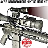 Wicked Lights A47IR Infrared Night Hunting Light Kit With 3-Power Mode LED for use with Night Vision Devices for coyotes, Predators, Varmint & Hog Hunting