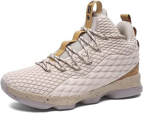 Zapatos de Baloncesto Hombre Mujer Antideslizante Zapatillas Altas Transpirable Zapatos Deportivos Aire Libre Blanco 36: Amazon.es: Zapatos y complementos