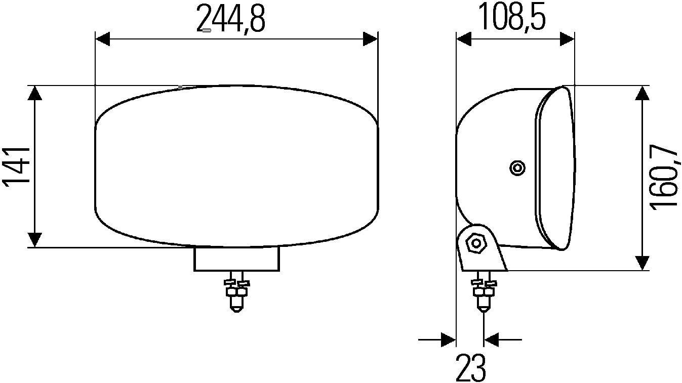 Ref HELLA 1FE 008 773-011 Faro di profondit/à H7-12V//24V 17,5 Montaggio Lente diffusore cristallina Zona montaggio: Sx//Dx Jumbo 320 esterno FF//Alogeno