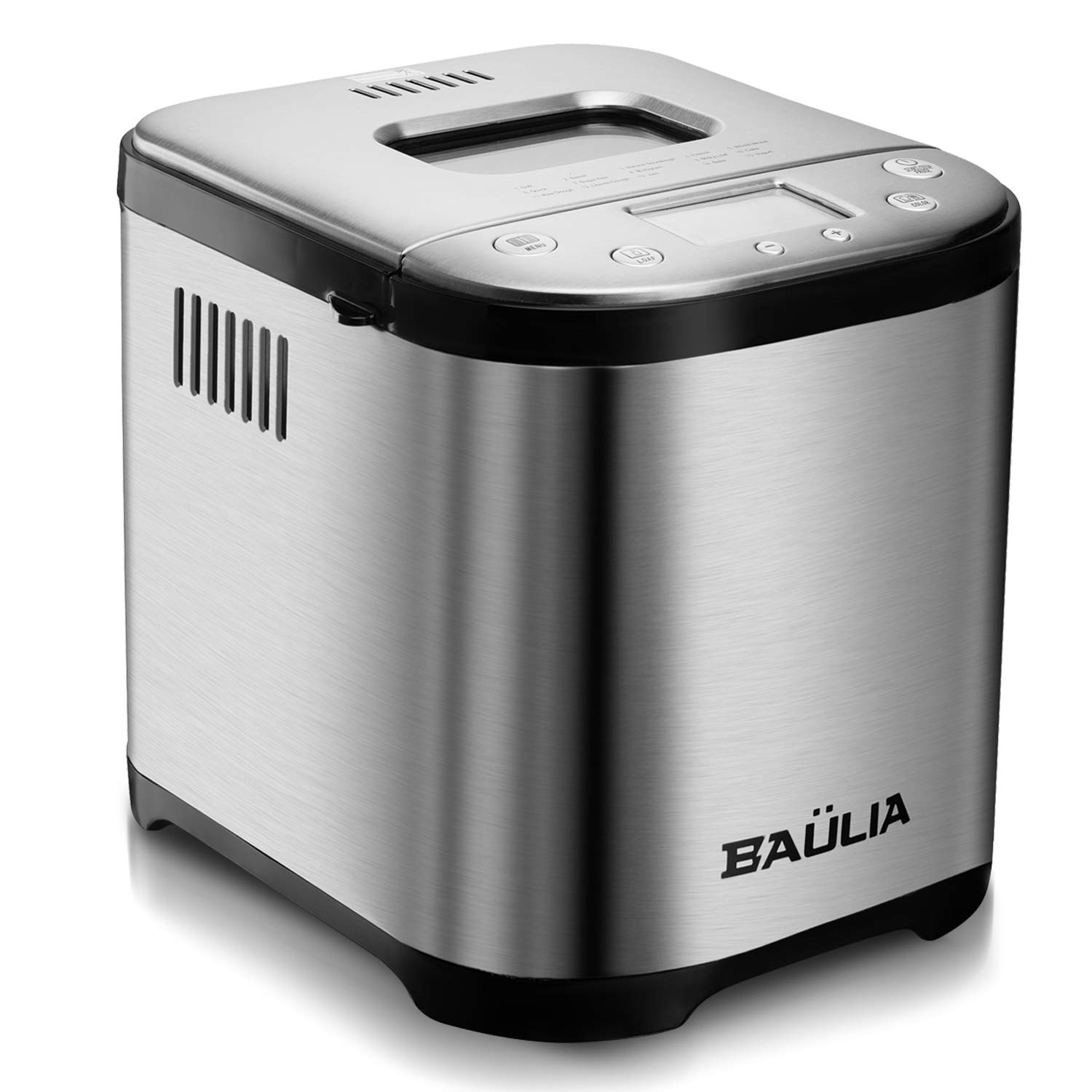 Baulia Automatic Bread Maker Machine – Sugar-Free Functions 15 Programmable Bread Types Settings