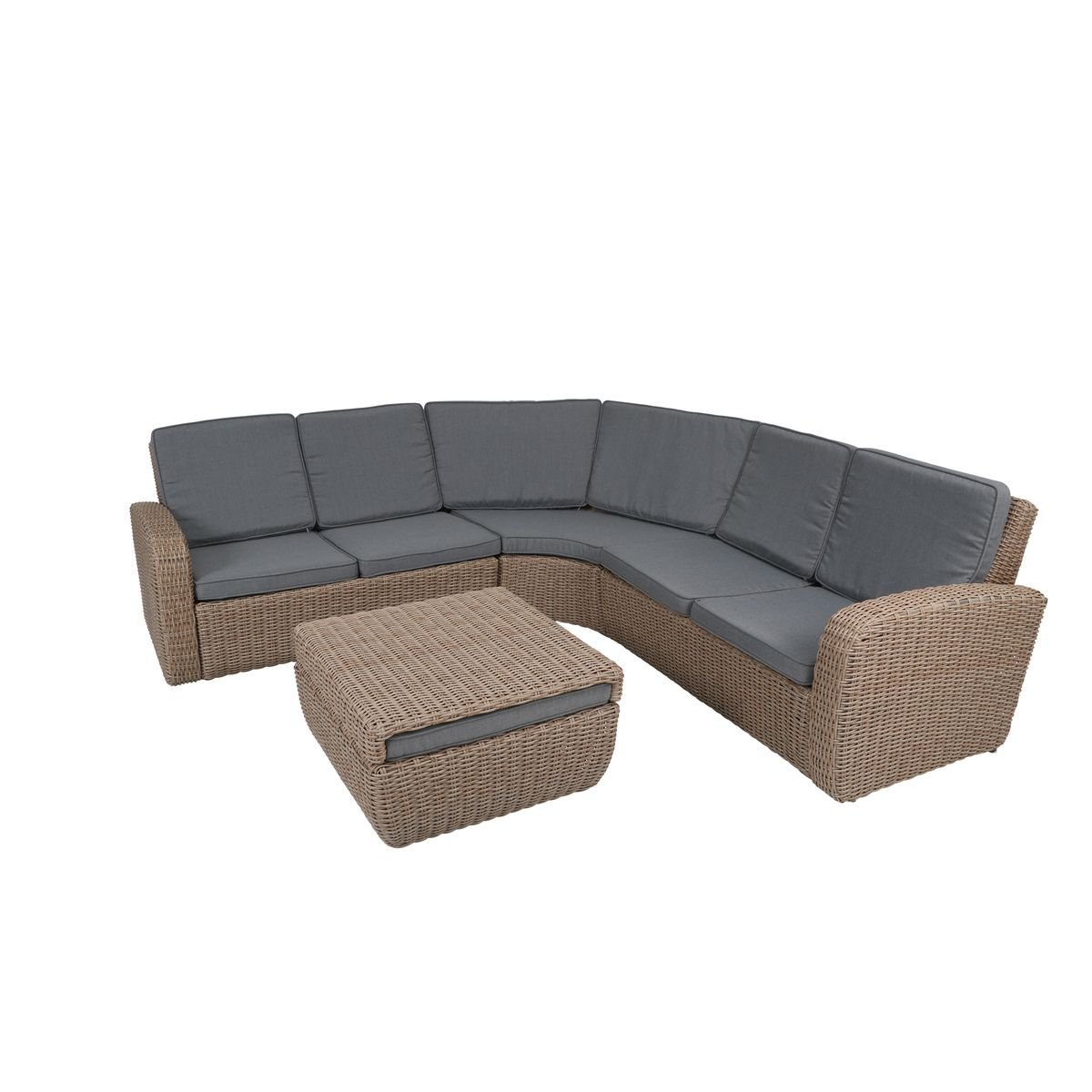 greemotion rattan lounge new york gartenm bel set 4 teilig aus polyrattan in braun mit. Black Bedroom Furniture Sets. Home Design Ideas
