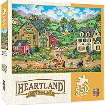 MasterPieces Heartland Libery Farm Parade Jigsaw Puzzle by Bonnie White, 550-Piece