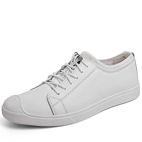 YAN Calzado de Cubierta para Hombre, Zapatos de Cuero con tacón bajo Mocasines Antideslizantes y