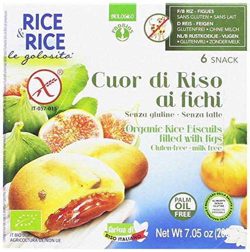 Probios Rice&Rice Galleta De Riso con Higos sin Leche - Paquete de 10 x 200 gr