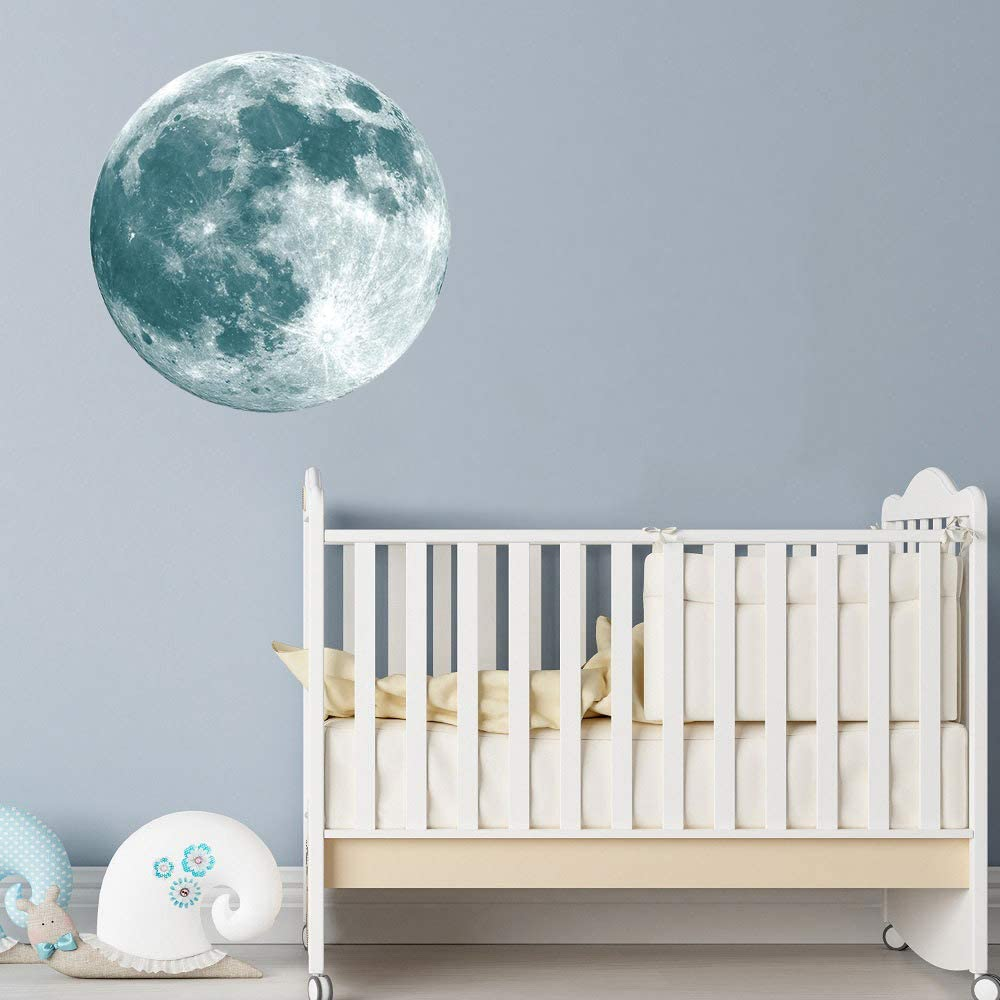 LERTREE Glow Moon Wall Stickers Luminous Stickers Moon Glow in The Dark for Kid Room Decoration Wall Decals
