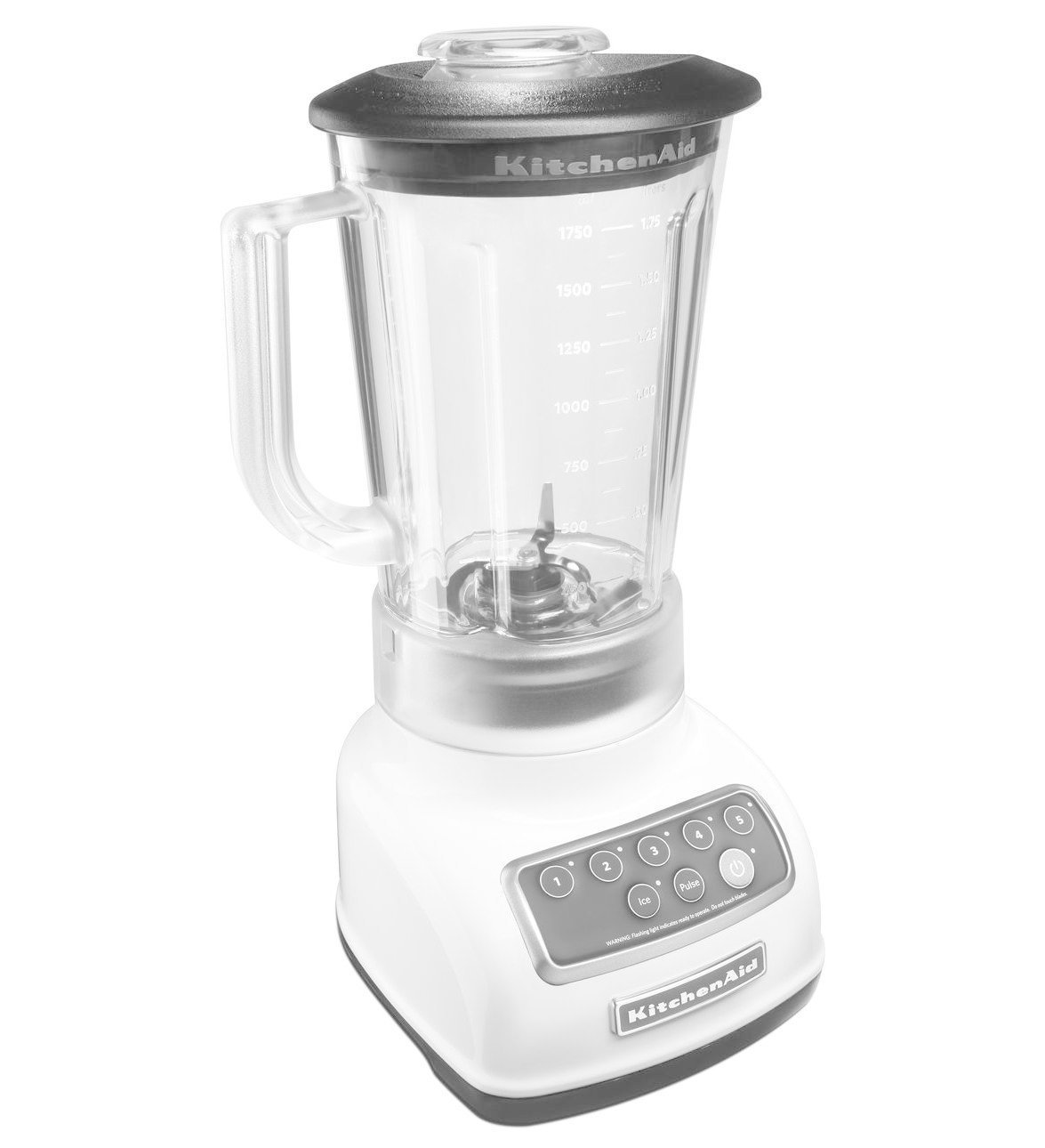 KitchenAid RKSB1570WH 5-Speed Blender with 56-Ounce BPA-Free Pitcher - White (Certified Refurbished)