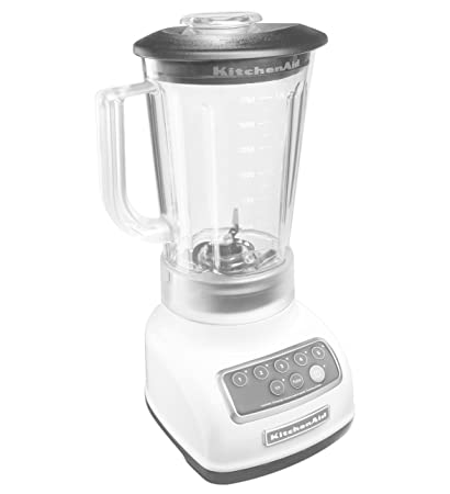 KitchenAid RKSB1570WH 5-Speed Blender with 56-Ounce BPA-Free Pitcher – White Renewed