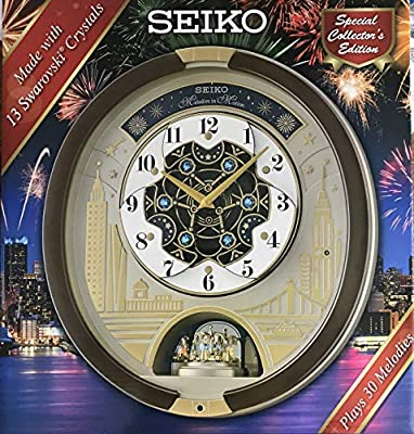 SEIKO Swarovski Melody in Motion Wall clock-2019 edition-QXM382BRH