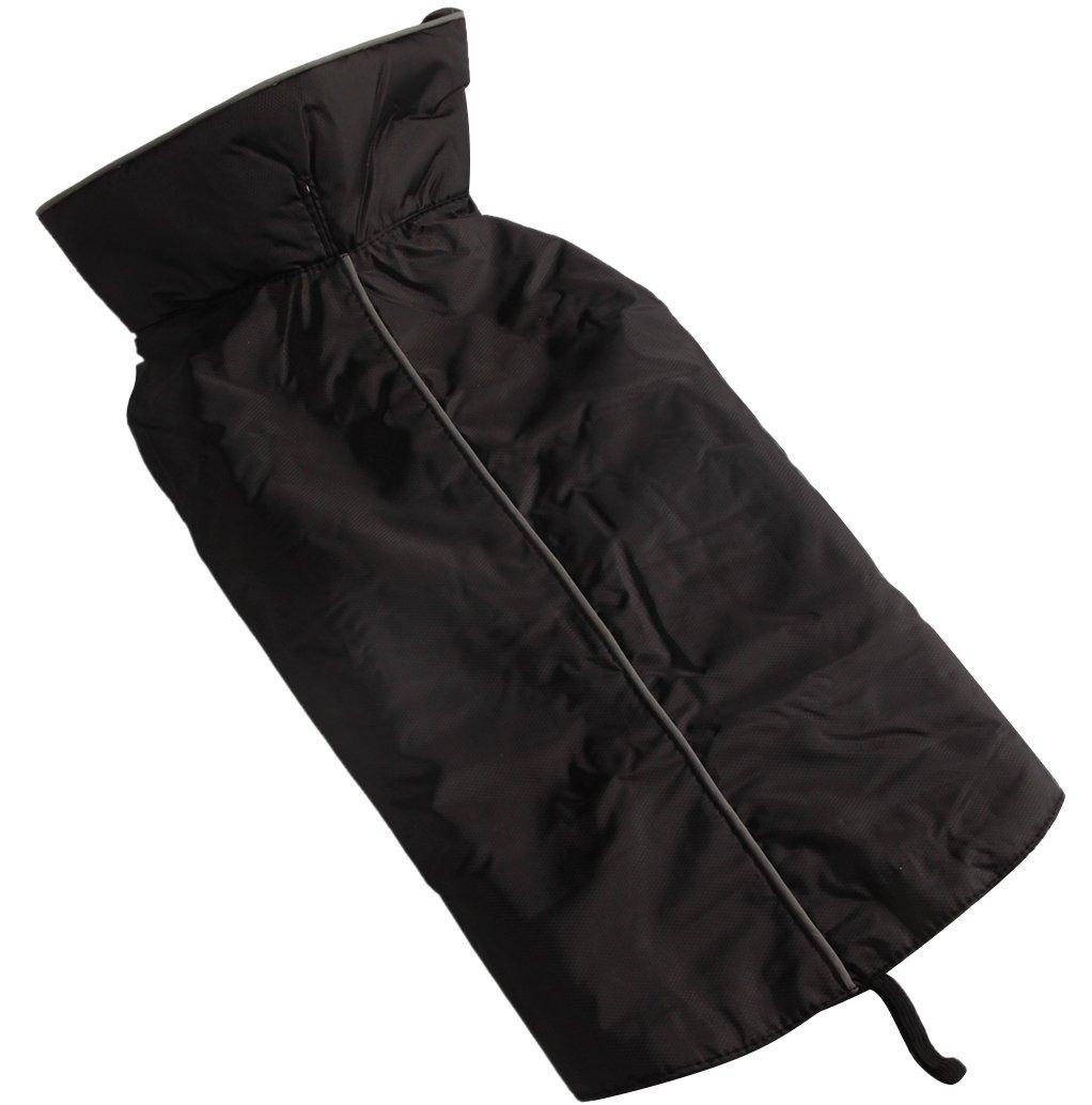 Black L Black L JoyDaog Fleece Lined Warm Dog Jacket for Winter Outdoor Waterproof Reflective Dog Coat Black L