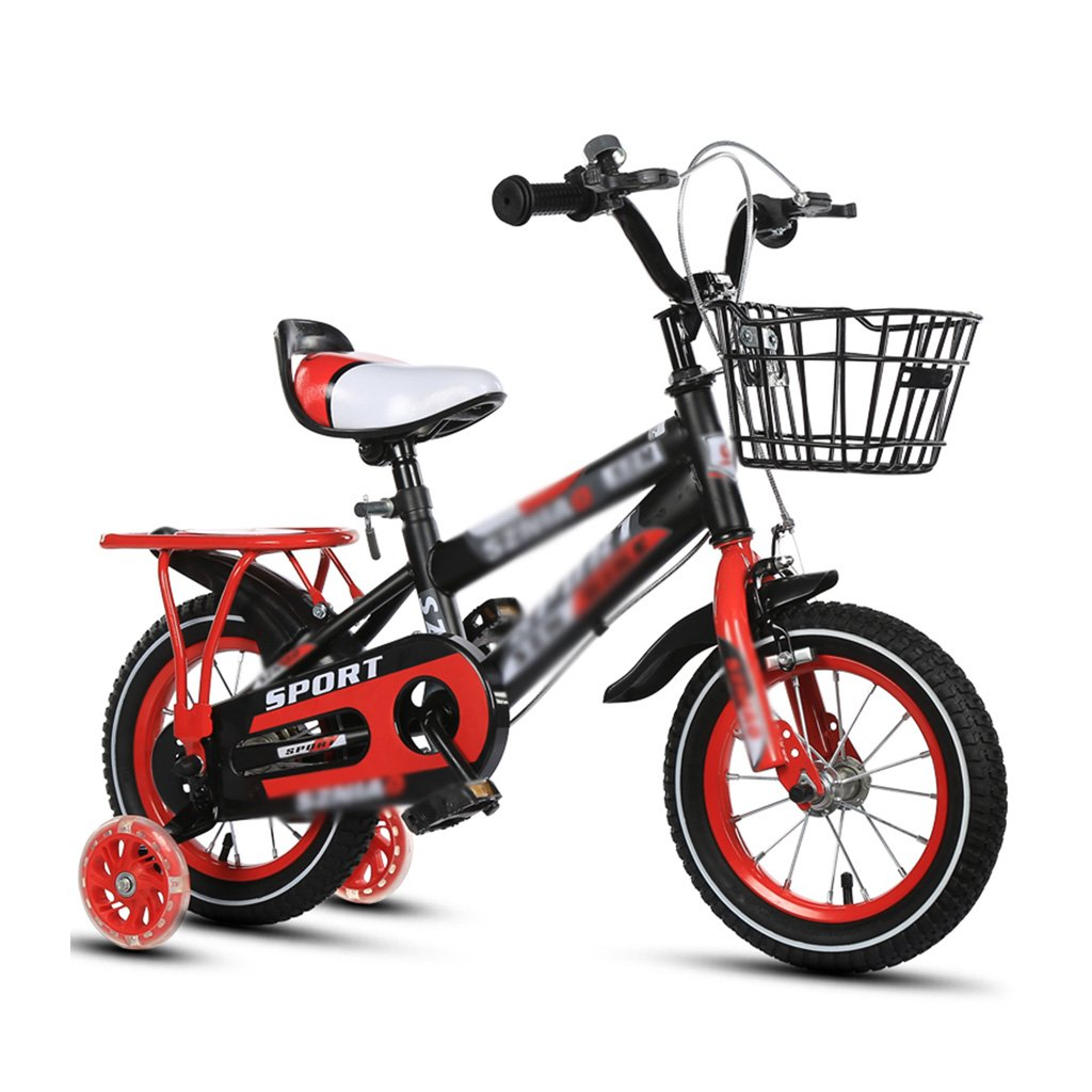 Gai Huaホーム子供用自転車子供のBicycles, 2 – 3 - 4 – , 7 , – 8 Years Old Baby 12 – 14 – 16 – 18インチBaby Carriage 3 C証明子車 B07DQQH9M6  レッド 18 inches