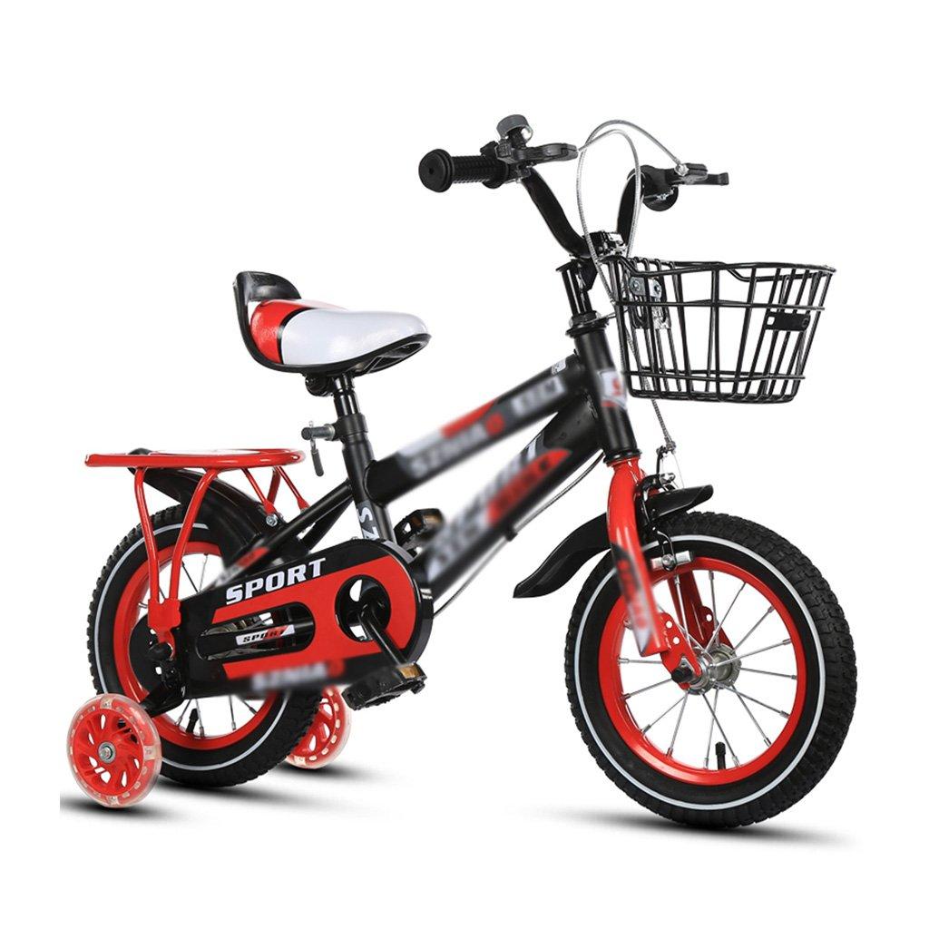 BaoKangShop Kinderfahrräder Kinderfahrräder 2-3-4-6-7-8 Jahre alt Baby 12-14-16-18 Zoll Kinderwagen 3C Zertifizierung Kind Auto (Farbe   ROT, Größe   12 inches)