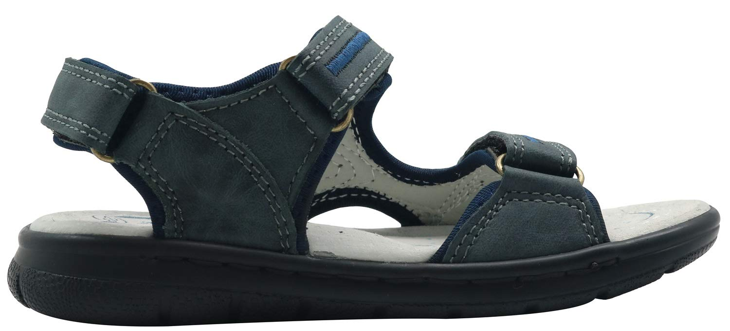 Toddler//Little Kid Color : Darkblue, Size : 12.5 M US Little Kid Summer Shoes Kids Boys Leather Outdoor Sandals with Arch Support