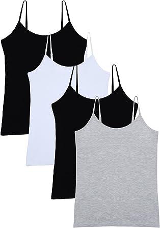 Vislivin Womens Basic Solid Camisole Adjustable Spaghetti Strap Tank Top