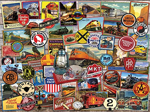 - White Mountain Puzzles All Aboard-1000 Piece Puzzle - Designer: Lewis T. Johnson