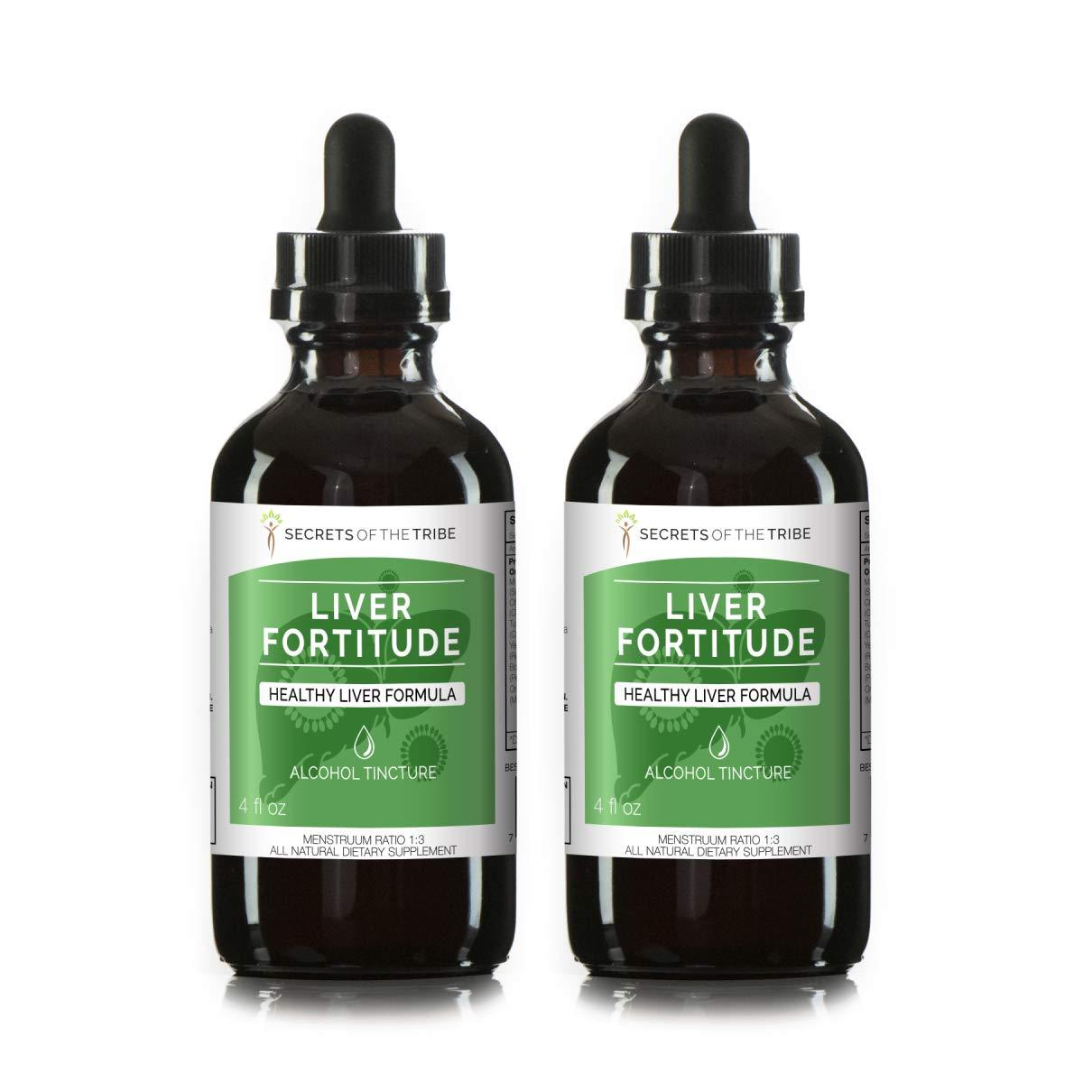 Liver Fortitude Alcohol Extract, Tincture, Milk Thistle, Chicory, Turmeric, Yellow Dock, Boldo, Oregon Grape. Healthy Liver Formula (2x4 FL OZ)