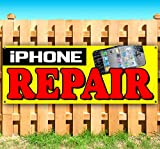 iPHONE REPAIR 13 oz heavy duty vinyl banner sign with metal grommets, new, store, advertising, flag, (many sizes available)
