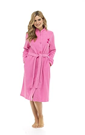 Ladies Dressing Gown For Women Super Soft Zip Through Robe Soft