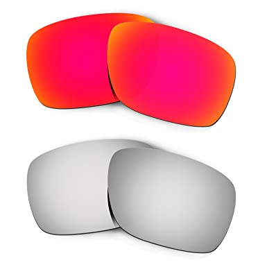 f389f5ae36 Image Unavailable. Image not available for. Color  Hkuco Mens Replacement  Lenses For Oakley Turbine Red Titanium Sunglasses