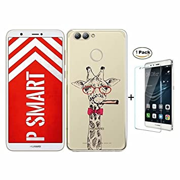 2b2764f735f Funda Samsung Galaxy J6 2018 Caso Fanxwu TPU Cover Ultra Delgada Claro  Silicona Gel Cover [Protector de Pantalla de Vidrio Templado] Anti-Arañazos  Bumper ...