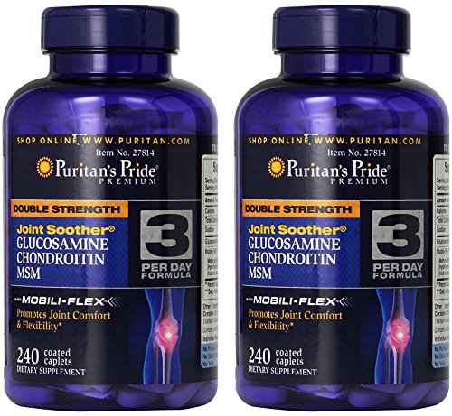 - Puritan's Pride Double Strength Glucosamine, Chondroitin & MSM Joint Soother-240 Caplets (2Pack)