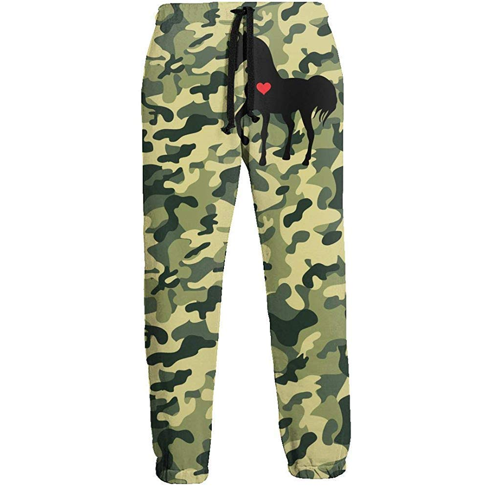 Emild Heart Horse Pantalones de chándal Rojos para niños ...