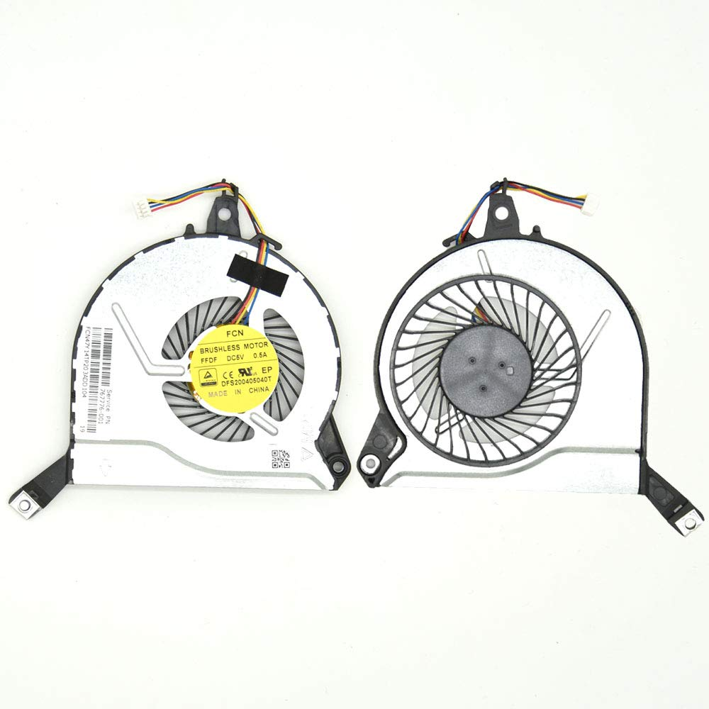 Artidux Replacement CPU Cooling Fan 4 Pins 4 Wires 0.5A for HP Pavilion 17-F001DX 17-F002DX 17-F003DX 17-F004DX 17-F006DX 17-F010US 17-F014NR 17-F019WM 17-F020US 17-F021CY 17-F021NR 17-F022CY Series