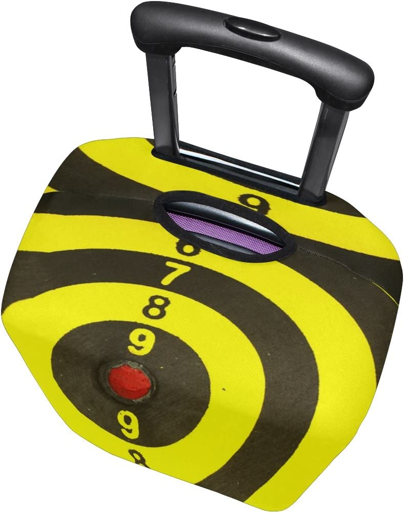 LEISISI Luggage Cover Yellow Target Protector Cover Elastic Suitcase Cover M 23-26 in