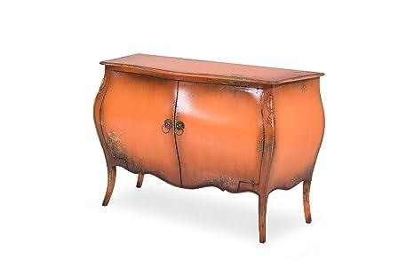 Credenza Moderna Arancione : Mobile buffet 2 ante arancione graffiato: amazon.it: casa e cucina