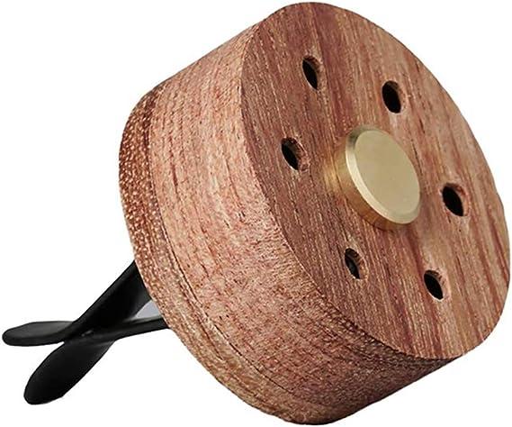 ミニ車の空気清浄排気クリップオイルディフューザー、木製のステンレス鋼の溶岩石のアロマセラピー、アロマディフューザー小箱