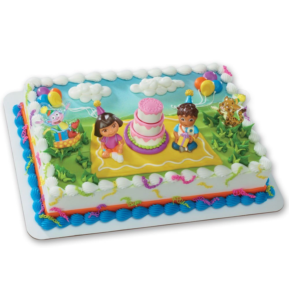 Fabulous Decopac Dora Explorer Birthday Celebration Deco Set Amazon Co Uk Personalised Birthday Cards Veneteletsinfo