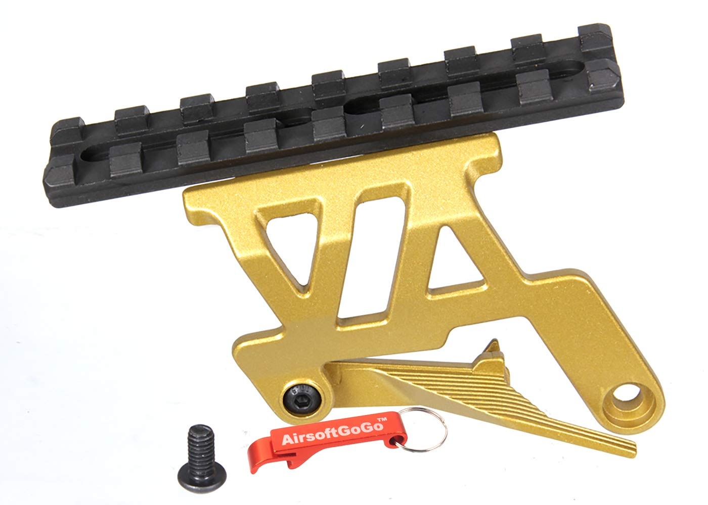 Airsoft Parts 5KU Scope Mount for Tokyo Marui HI-CAPA 5.1//4.3 GBB Black//Gold
