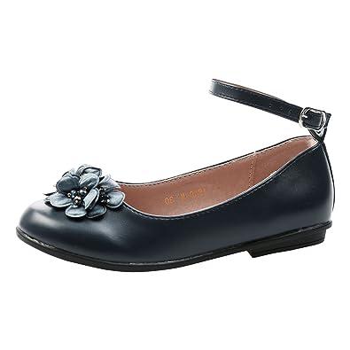 c1f17098411 Feet First Fashion Nellie Girls Kids Flat Ballerina Shoes: Amazon.co ...