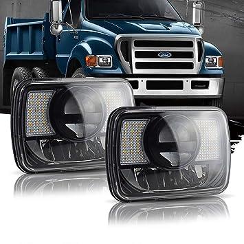 Amazon.com: 7x6 5X7 INCH LED Headlights Sealed Beam ... on