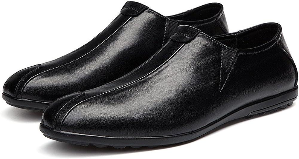 MXL Mens Fashionable Driving Loafer Patch Decor Super Light Slip on Moccasins Shoes Dress Shoes