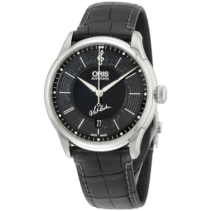 Oris Reloj de hombre automático 40mm dial negro 01 733 7591 4084-SET-LS: Amazon.es: Relojes