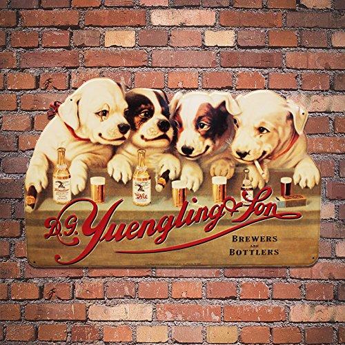 Yuengling Larger Memorable 1907 Dogs Metal Beer Sign
