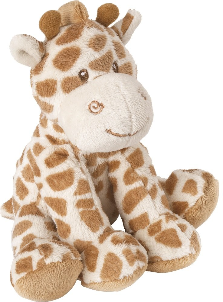 Suki Baby Small Bing Bing Soft Boa Plush Rattle with Embroidered Accents (Giraffe) 10045