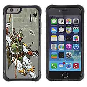 Jordan Colourful Shop@ Boba Fett - Hunter Rugged hybrid Protection Impact Case Cover For iphone 6 6S CASE Cover ,iphone 6 4.7 case,iphone 6 cover ,Cases for iphone 6S 4.7