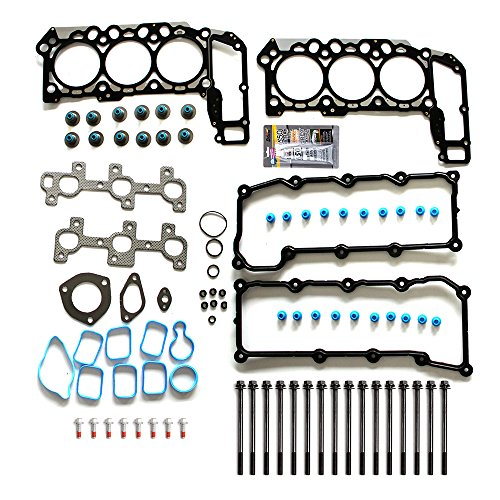 Jeep Head Gasket - ECCPP Replacement for Cylinder Head Gasket Set Bolts for 2002-2005 Dodge Ram 2004-2005 Dodge Dakota Durang 1500 Jeep Liberty 2005 JeepGrand Cherokee 3.7L V6 SOHC VIN K