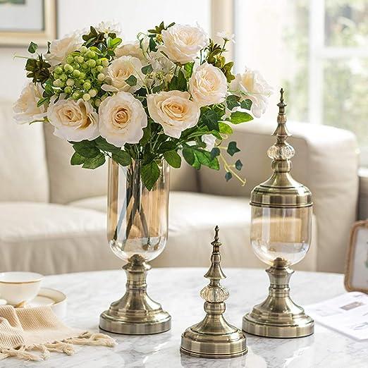 Amazon Com Yan Guo99 Glass Vase Decoration Flower Arrangement