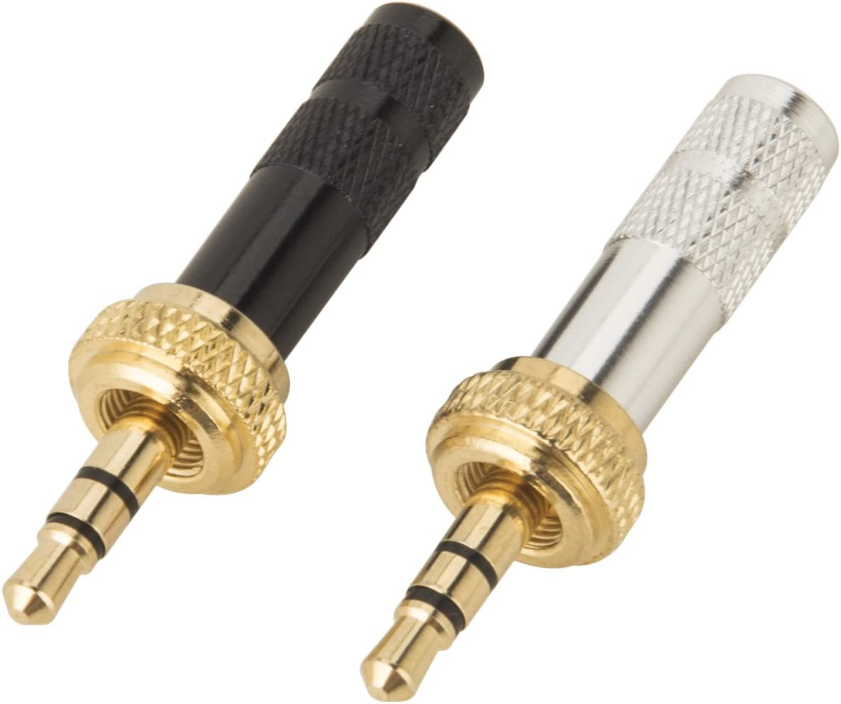 MICROPHONE HIGH QUALITY GOLD 3.5mm TRS JACK PLUG STEREO DIY REPAIR HEADPHONE