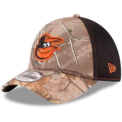 the latest c11f9 59967 New Era Baltimore Orioles Real Tree Neo 39THIRTY Flex Fit Hat Cap  Small Medium
