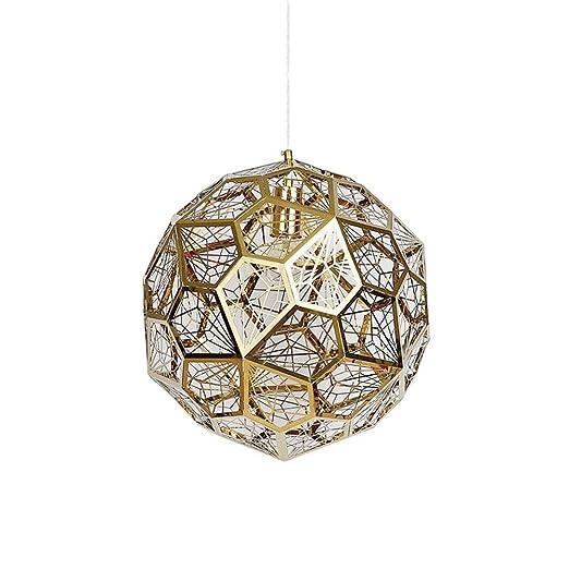 Lámpara Luces Acero Oro Inoxidable Colgantes HONGOU Techo wPn0Ok8