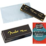 Fender Blues DeVille Harmonica - Key of C Bundle with Carrying Case and Instructional Book