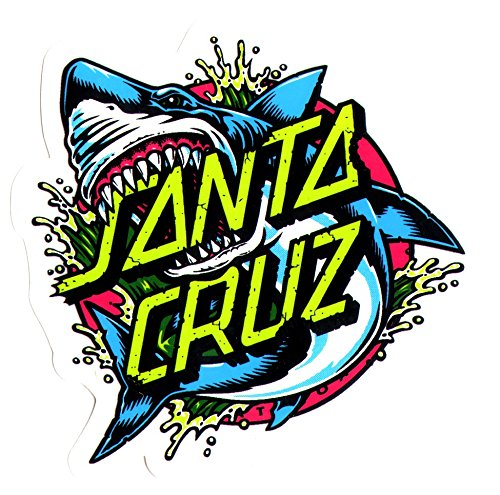 Santa Cruz Skateboard / Surf Sticker – Shark Dot – Approx 8cm wide. surfing skating board surfboard