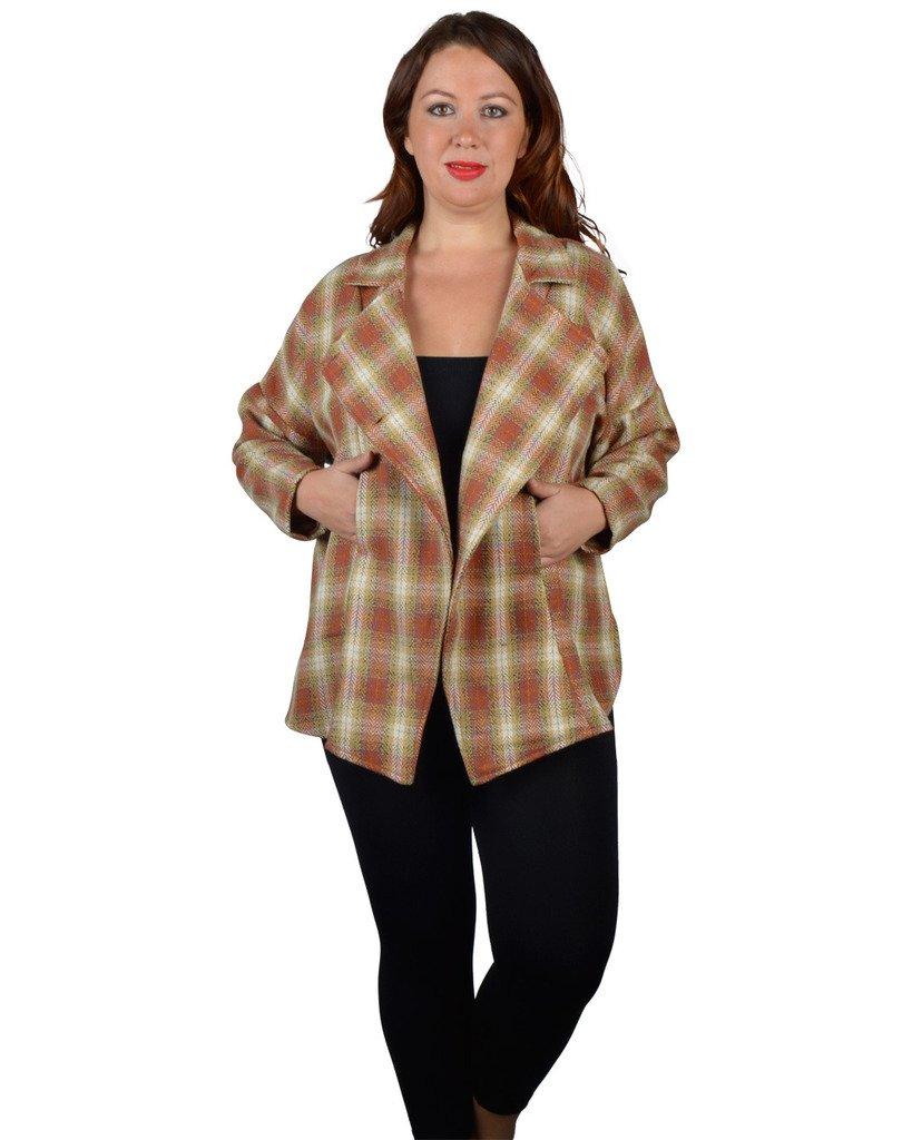 Alfa Global Women's Plus Size Plaid Blazer Size 2X