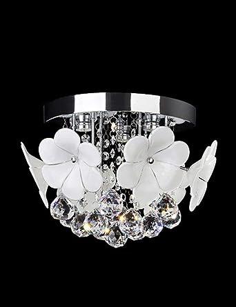 BIXIANGJI - Lámpara de techo de cristal con diseño de flores ...