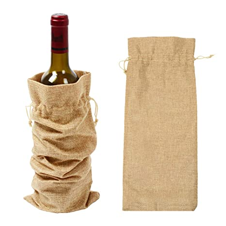 Haifly - Bolsas de Yute Reutilizables para Botellas de Vino ...